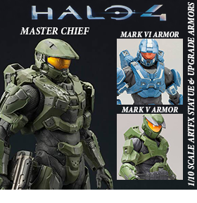 HALO 4 MASTER CHIEF 1/10 ARTFX STATUE AND ARMOR